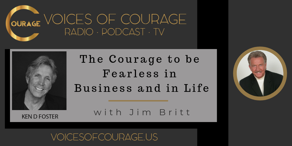 Voices of Courage Show Graphic for Episode 051 with guest Jim Britt