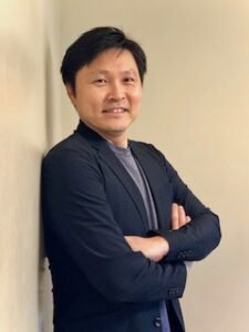 Image of Yoichi Utebi, Producer of Twiceborn, and Executive Vice President of HS Productions - on Voices of Courage with Ken D. Foster